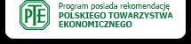 Książka przychodów i rozchodów SKP Format posiada rekomendację Polskiego Towarzystwa Ekonomicznego