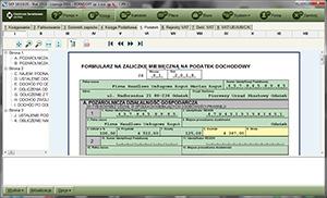 Deklaracje podatkowe w programie SKP Super Księga Podatkowa - widok strony